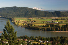 Mt. baker and fraser valley Royalty Free Stock Image