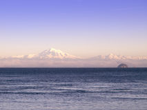 Mt Baker and Puget Sound. Mt Baker locate in Washington State, photographed from the Southern Gulf Island of British Columbia Stock Image