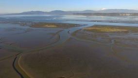 Fidalgo Bay Anacortes Washington Puget Sound Mount Baker stock footage