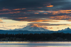 Mt. Baker Sunrise Stock Image