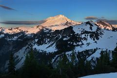 Mt Baker sunrise Stock Image
