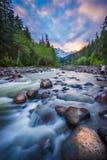 Mt Baker Sunset Stock Photo