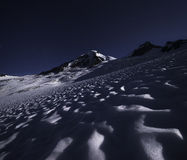 Mt Baker under the stars Stock Photography