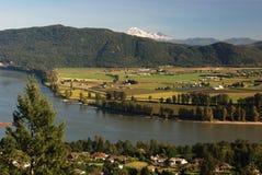 Mt. bakker en fraser vallei Royalty-vrije Stock Afbeelding