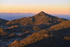 Mt Bawoli Halny wschód słońca Obrazy Stock