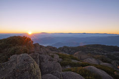 Mt Bawoli Halny wschód słońca Obraz Royalty Free