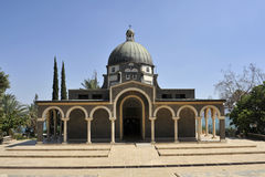 Mt. Beatitudes church. Stock Image