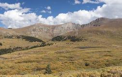 Mt Bierstadt在秋天 库存图片