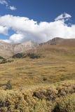 Mt Bierstadt在秋天 库存照片