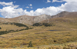 Mt Bierstadt no outono imagens de stock