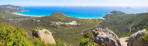 Mt Bishop panorama. Shot at the top of Mt Bishop, Wilsons Promontory National Park, Australia Royalty Free Stock Photography