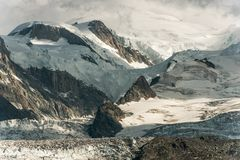 Mt Blanc Alpine Landscape Royalty Free Stock Images