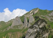 Mt Bogartenfirst, mountain of the Alpstein Range Royalty Free Stock Images