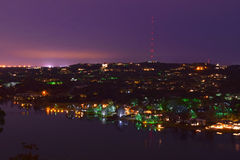 Mt. Bonnell overlook night stock images