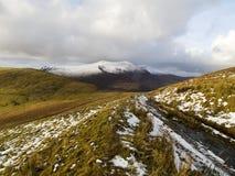 Mt Brandon Range gesehen von Connor Pass lizenzfreie stockfotos