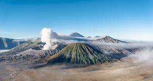 Mt Bromo, национальный парк Tengger Semeru, East Java, Индонезия стоковые фото