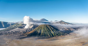 MT Bromo, het Nationale Park van Tengger Semeru, Oost-Java, Indonesië Stock Foto's