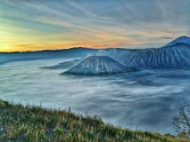 Mt. Bromo Indonesia, Epic view stock images