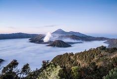 Mt Bromo, parc national de Tengger Semeru, Java-Orientale, Indonésie Images stock