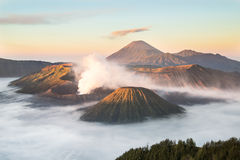 Mt Bromo Tengger Semeru nationalpark, East Java, Indonesien Royaltyfri Fotografi