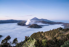 Mt Bromo, Tengger Semeru park narodowy, Wschodni Jawa, Indonezja Obrazy Stock