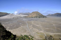 Mt Bromo volcano. The valley of mountain Bromo in East Java, Indonesia Royalty Free Stock Images