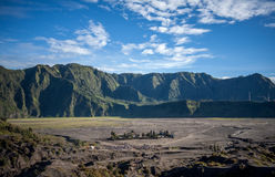 Mt.Bromo Volcano. Blue Sky in mt.Brono Volcano, Indonesia royalty free stock image