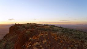 Sunrise on Mt. Bruce - Karijini National Park stock images