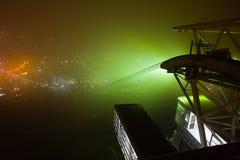 Mt brumeux Hakodate au Hokkaido, Japon Images stock