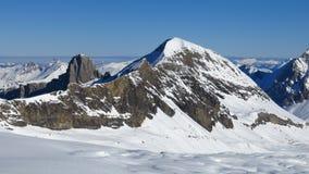 Mt Brun, view from the Glacier De Diablerets ski area Stock Images