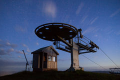 Mt Buller Ski Lift At Night Stock Image