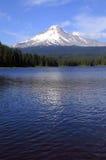 Mt. Capa & lago Trillium, Oregon. imagem de stock royalty free