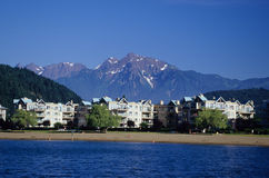 Mt. Cheam from Harrison Lake royalty free stock photography
