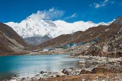 Mt. Cho Oyu e lago Gokyo, regione di Everest, Nepal Fotografia Stock Libera da Diritti