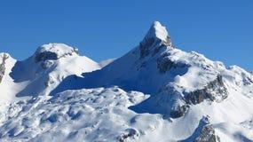Mt Chronenstock nell'inverno, alpi svizzere Fotografia Stock