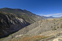 Mt. Cole en Rivier Fraser stock foto