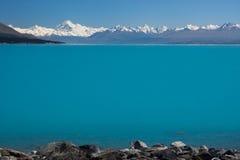 Mt Cook / Aoraki And Lake Pukaki Stock Photo