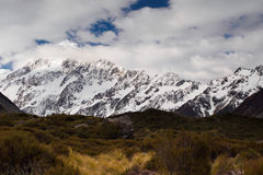 Mt Cook / Aoraki from Hooker Valley track Royalty Free Stock Photo