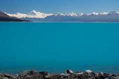 Mt Cook / Aoraki and Lake Pukaki Stock Photo