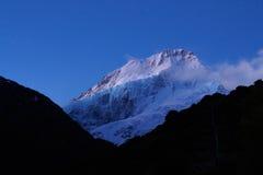 Mt Cook Aoraki in the moonlight Royalty Free Stock Image