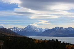 Mt Cook Clouds Royalty Free Stock Photo