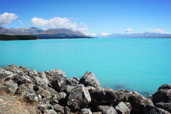 MT Cook Lake Pukaki Royalty-vrije Stock Fotografie