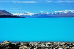Mt Cook and Lake Pukaki Stock Photos