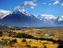 Mt. Cook, National Park, New Zealand. Southern Alps - Mt. Cook,  National Park. New Zealand Royalty Free Stock Photography