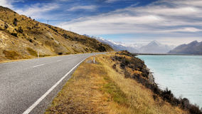 Mt. Cook National Park Road, New Zealand Stock Photography