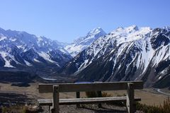 Mt Cook over Seat Stock Photography