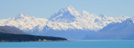 Mt. Cook Panorama Royalty Free Stock Photo