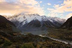 Mt Cook, Południowa wyspa Nowa Zelandia Fotografia Royalty Free