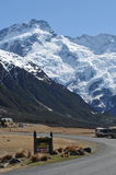 Mt. Cook Road Sign Royalty Free Stock Photos