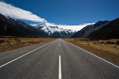 Mt. Cook road Royalty Free Stock Images